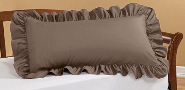 Наволочка с рюшами - стильное украшение Вашей кровати!