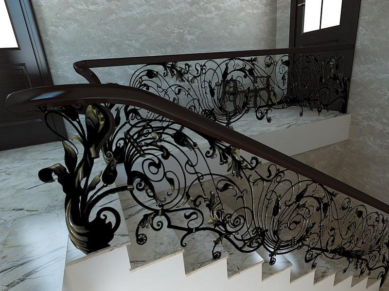 Купить кованые ограждения лестниц недорого