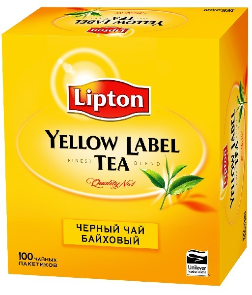 Чай Ліптон 100 пакетиків купити