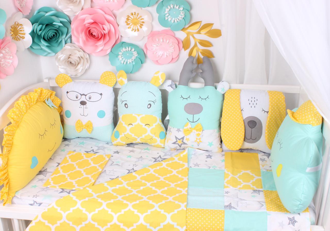 Бортики подушки для дитячої у вигляді звірятка купити в Україні