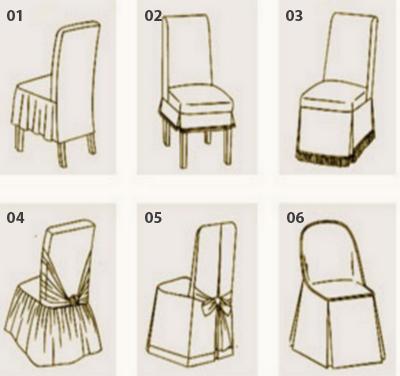 Изготавливаем красивые чехлы на стулья