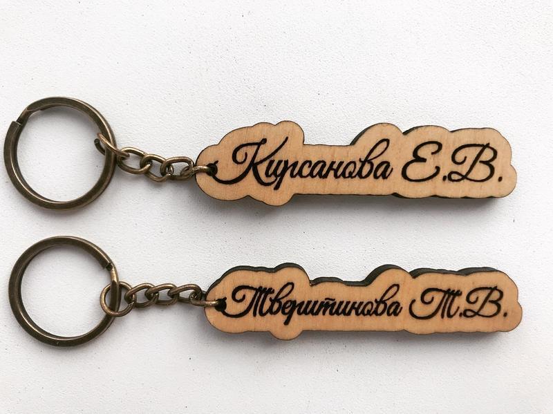 Іменні брелки з дерева купити в Україні