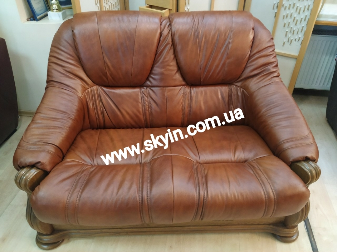 Кожаный раскладной диван Мадрид