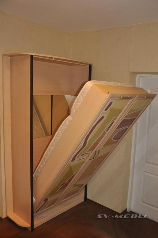 Відкидне ліжко вбудоване в шафу купити Україна