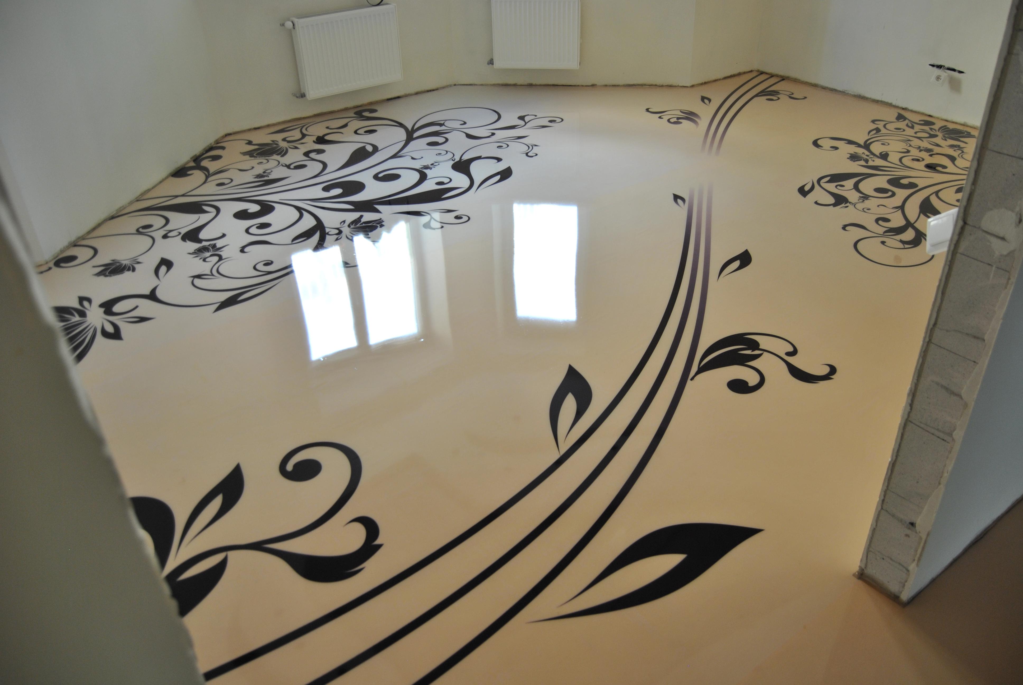 Наливна 3D підлога своїми руками