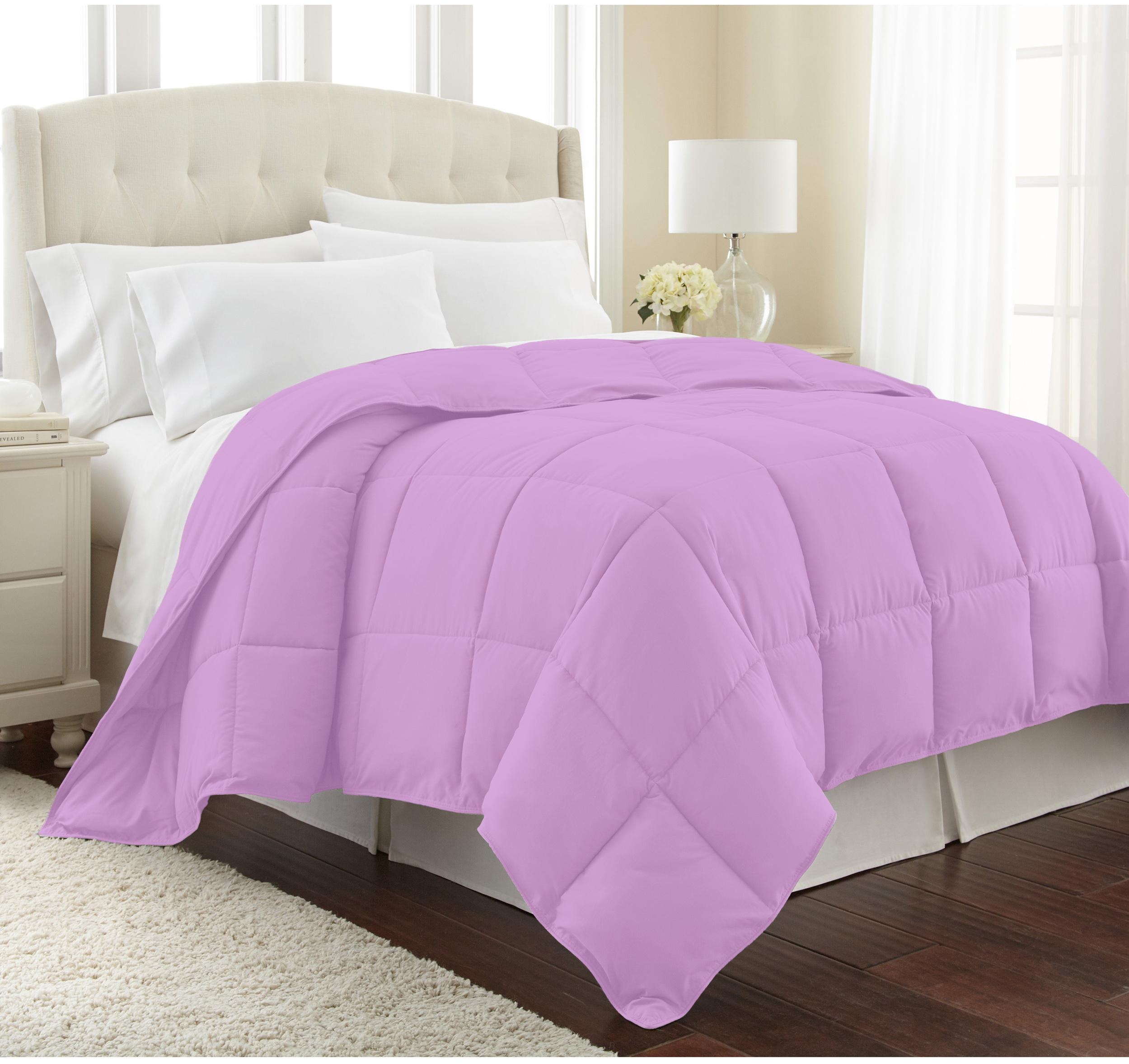 Покривало на 2 спальне ліжко бузкового кольору