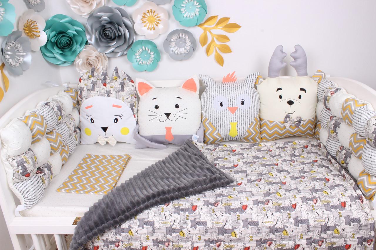 Оригинальные бортики в детскую кроватку в наличии!