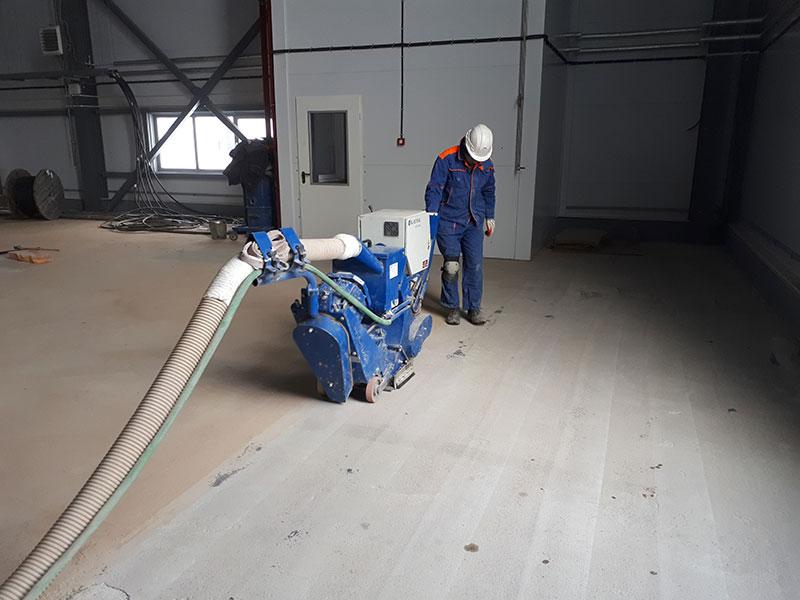 Дробеструйная очистка бетонного пола осуществляется компаниейSunfloor