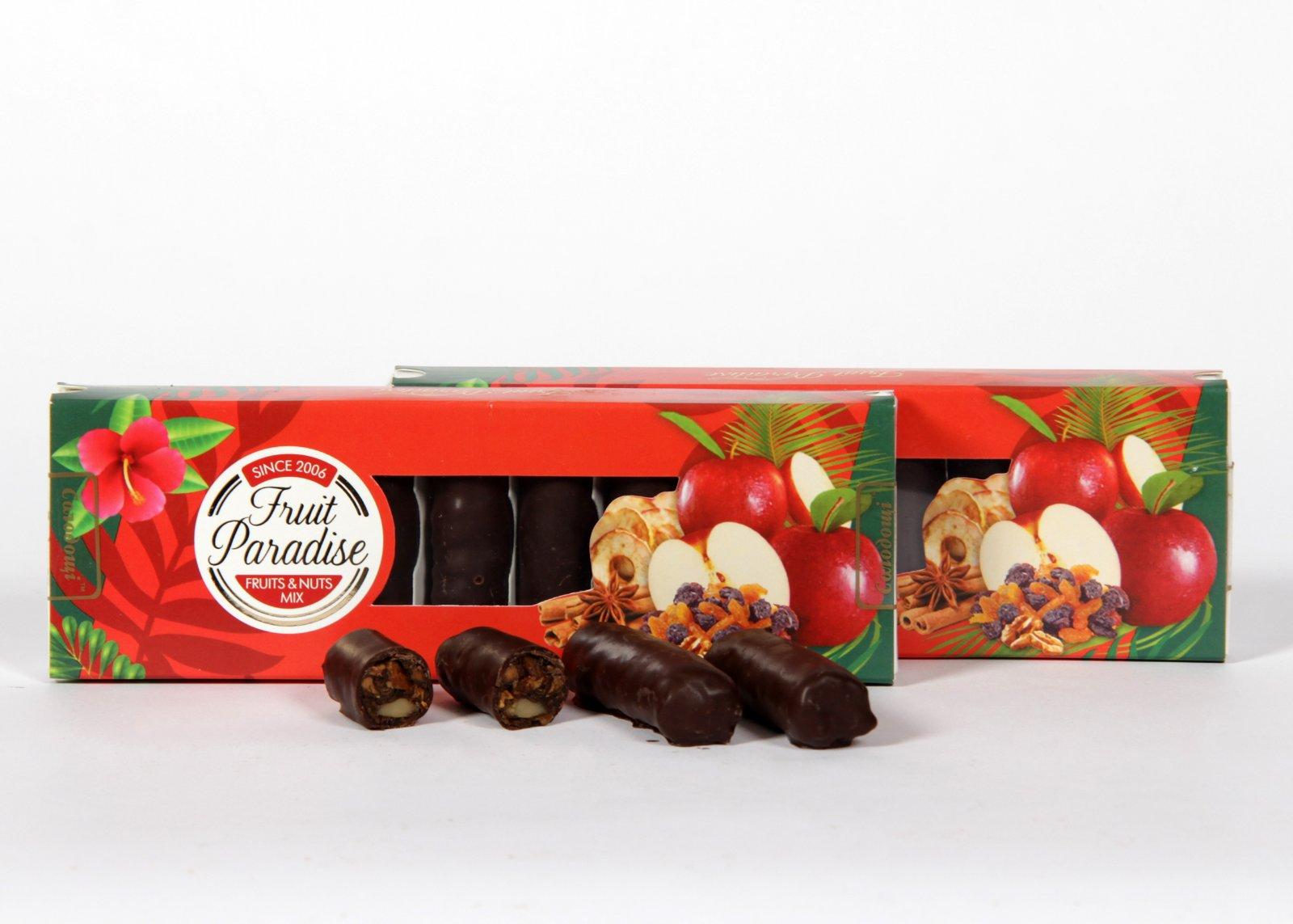 Натуральные конфеты с яблоками и изюмом в наличии