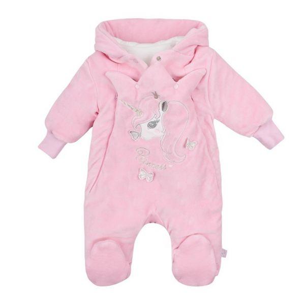 Про комфорт та безпеку вашої дитини подбає велюровий комбінезон для малюків.