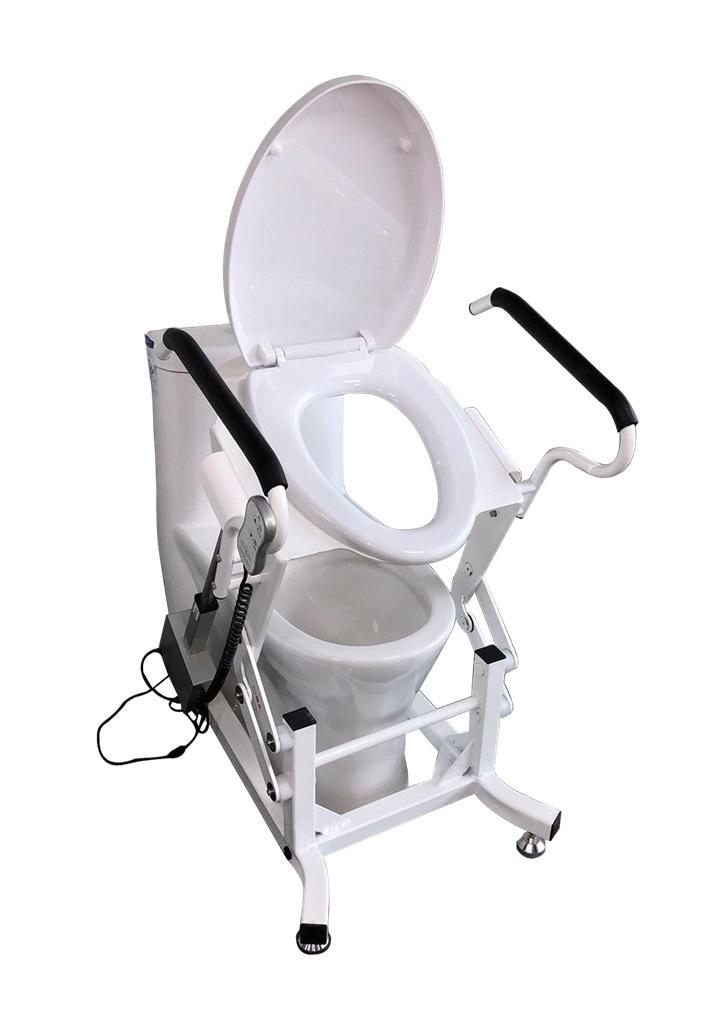 Легкое в использовании и надежное кресло для туалета с подъемным механизмом