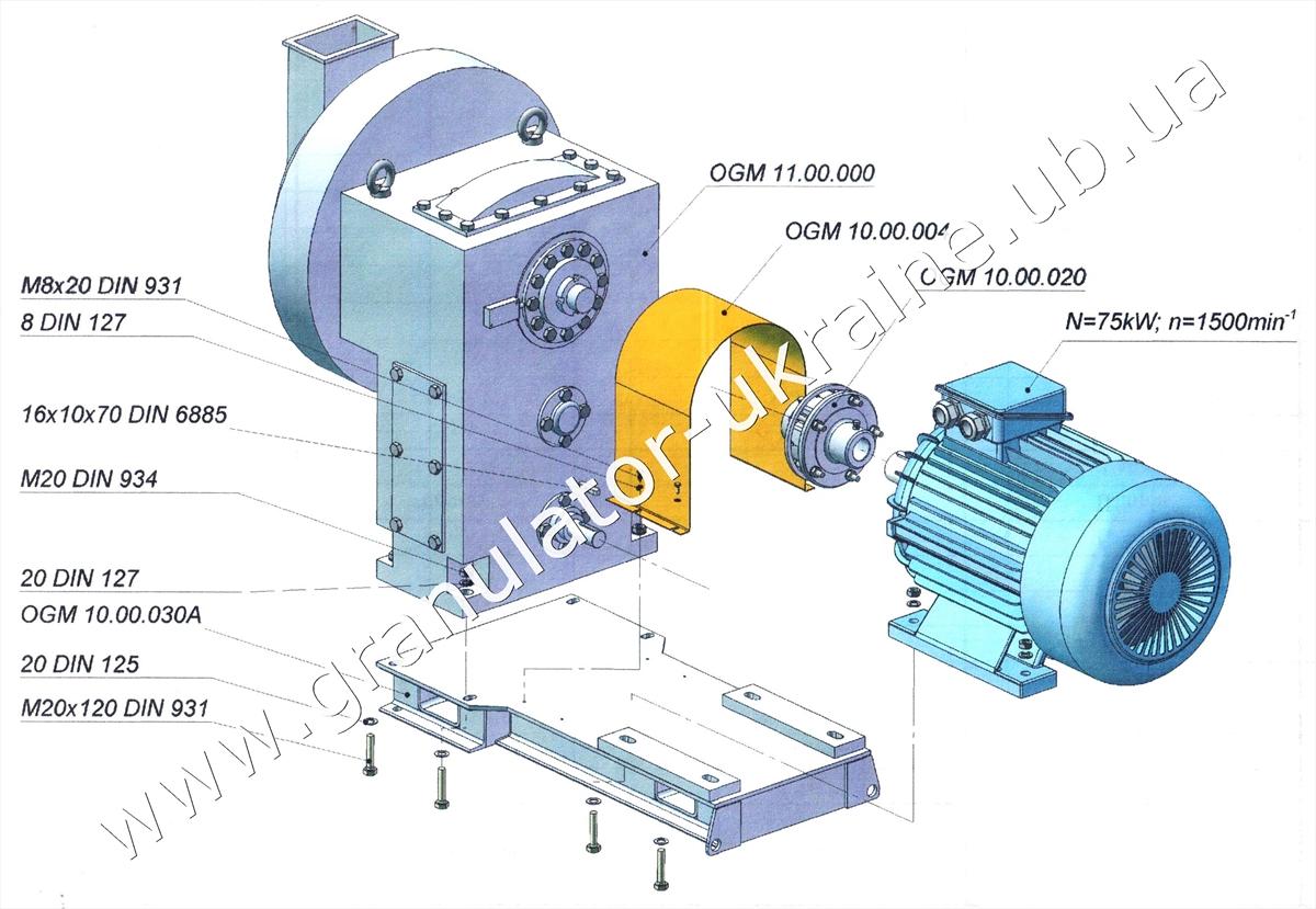 Придбайте гранулятор ОГМ за доступною ціною від виробника
