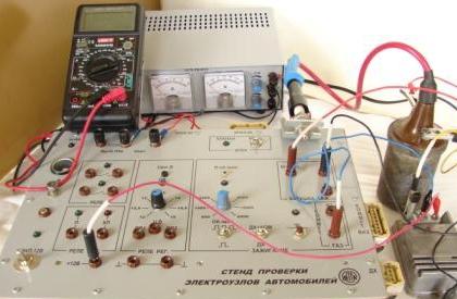 Стенд проверки электроузлов автомобилей