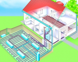 Предлагает тепловые насосы для отопления (тепловые помпы)