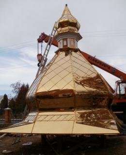 Церковные купола и кресты с качественным покрытием под цвет золота