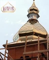 Изготовление куполов, покрытие нитрид титана. Гарантия - 50 лет