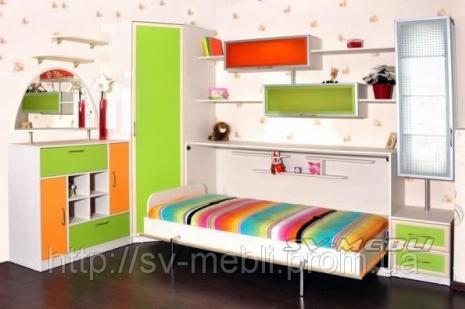 Шафа-ліжко для дитячої кімнати!