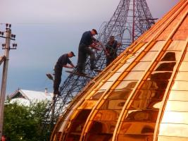Напыление нитрид титана, изготовление куполов