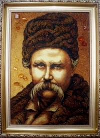 Оригінальні портрети з бурштину на замовлення