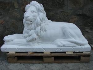 Изготовление скульптур: львы