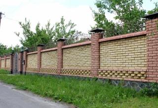 Строим оригинальные заборы из кирпича, принимаем заказы во Львове