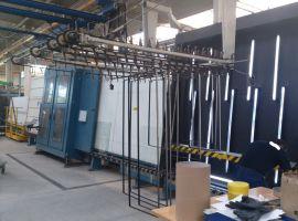 Склопакетна лінія Lenhardt 2300X3500 з газ пресом і роботом герметизації