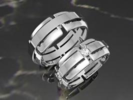 Вишукані обручки з білого золота (з діамантами і без) - Оголошення ... 973e1f7033ca3
