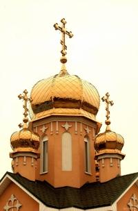 Церковні куполи з напиленням під