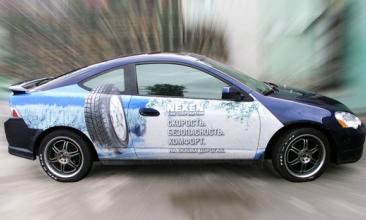 Изготовление рекламы на частных автомобилях в Украине без лишних затрат