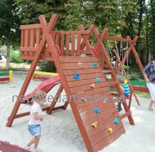 Современный уличный спортивный комплекс. Дети будут в восторге!