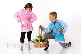 Оптовая продажа: плащ дождевик детский непромокаемый (винил)
