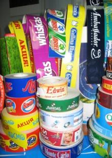 Этикетка в рулонах с доставкой по Украине