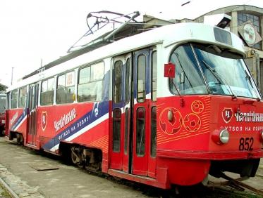 Эксклюзивная реклама на трамваях в Киеве, Львове, Одессе... Самое время заказать!