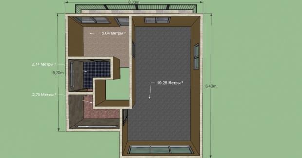 Построим дом - 71,5 м.кв. Балкон, 2 этажа