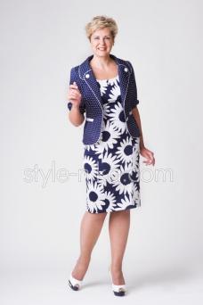 Женские костюмы и платья большие размеры оптом