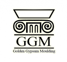 Golden gypsum moulding to order, gypsum frame for mirrors, 3d gypsum panels price