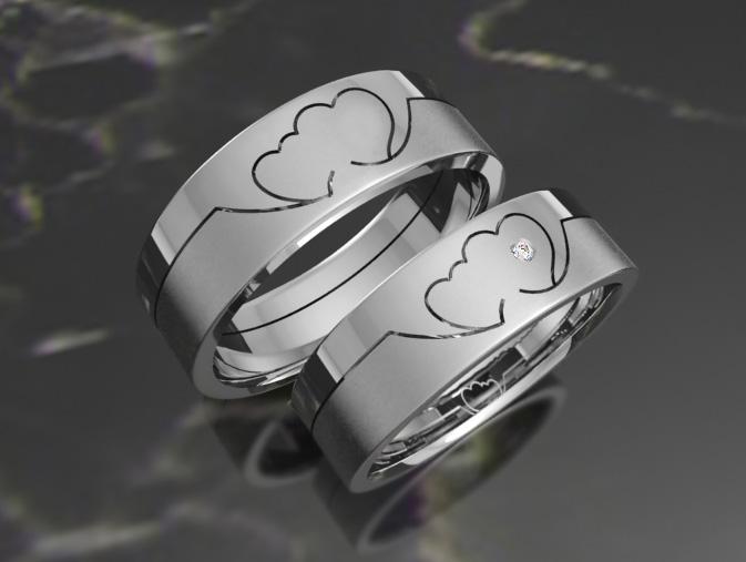 Оригинальные обручальные кольца с белого золота - Photo Gallery ... b462398291752