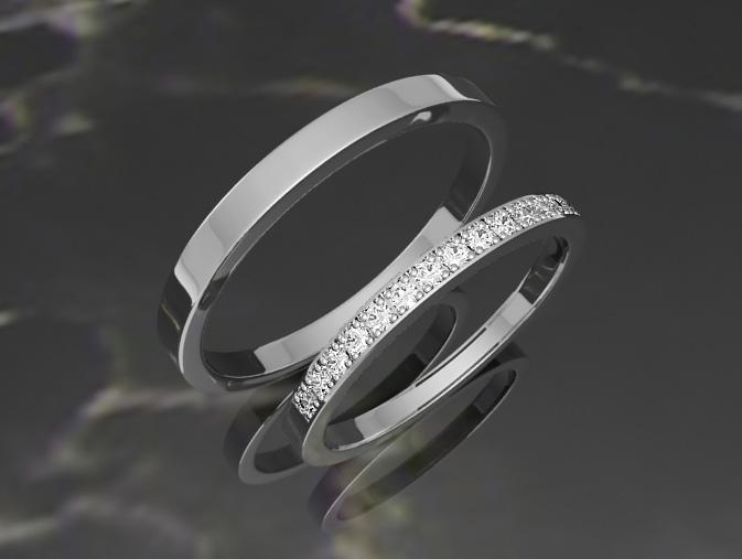 Красивые обручальные кольца с белого золота - Фото ювелирных ... 25514cb7a3a