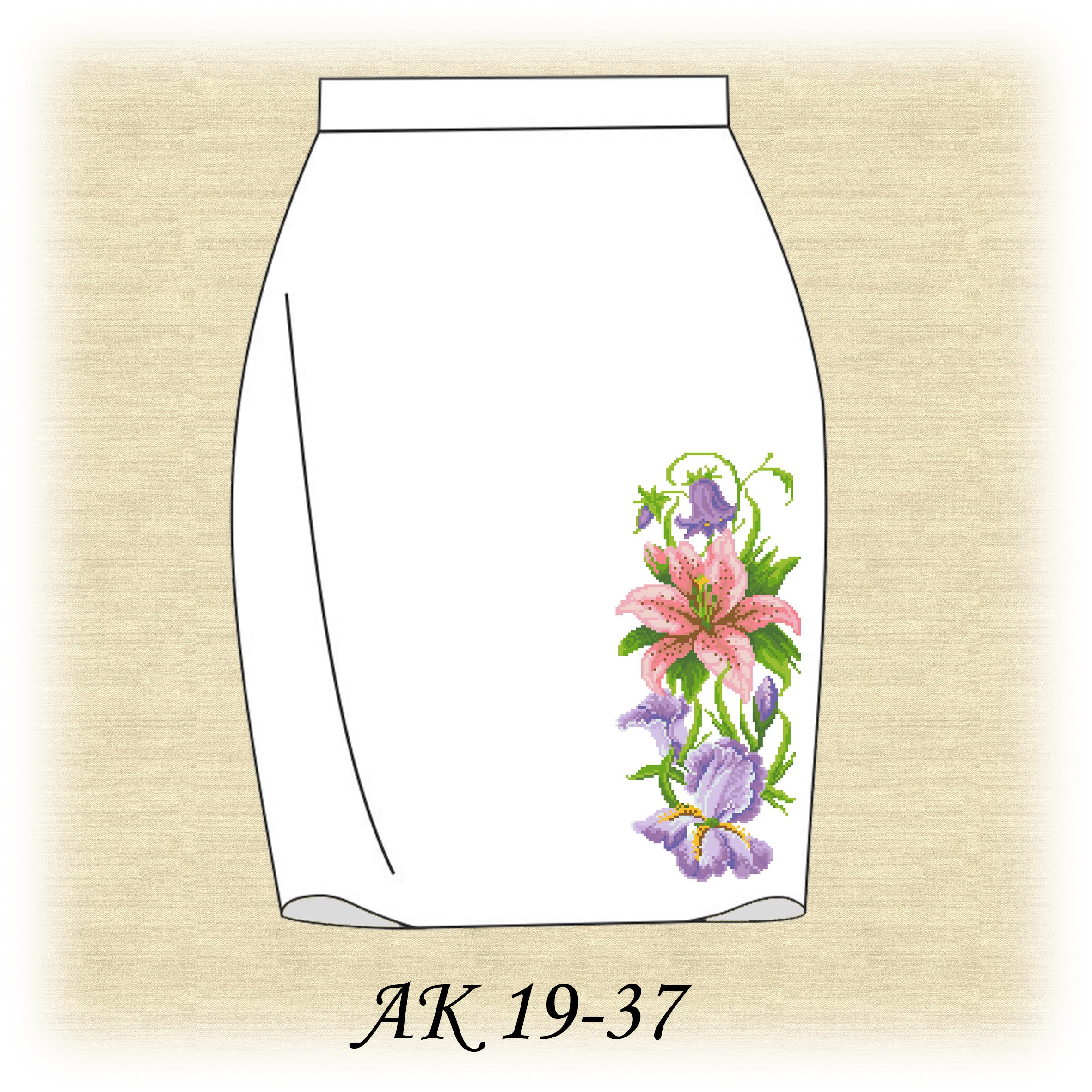 Схема вышивки на юбках