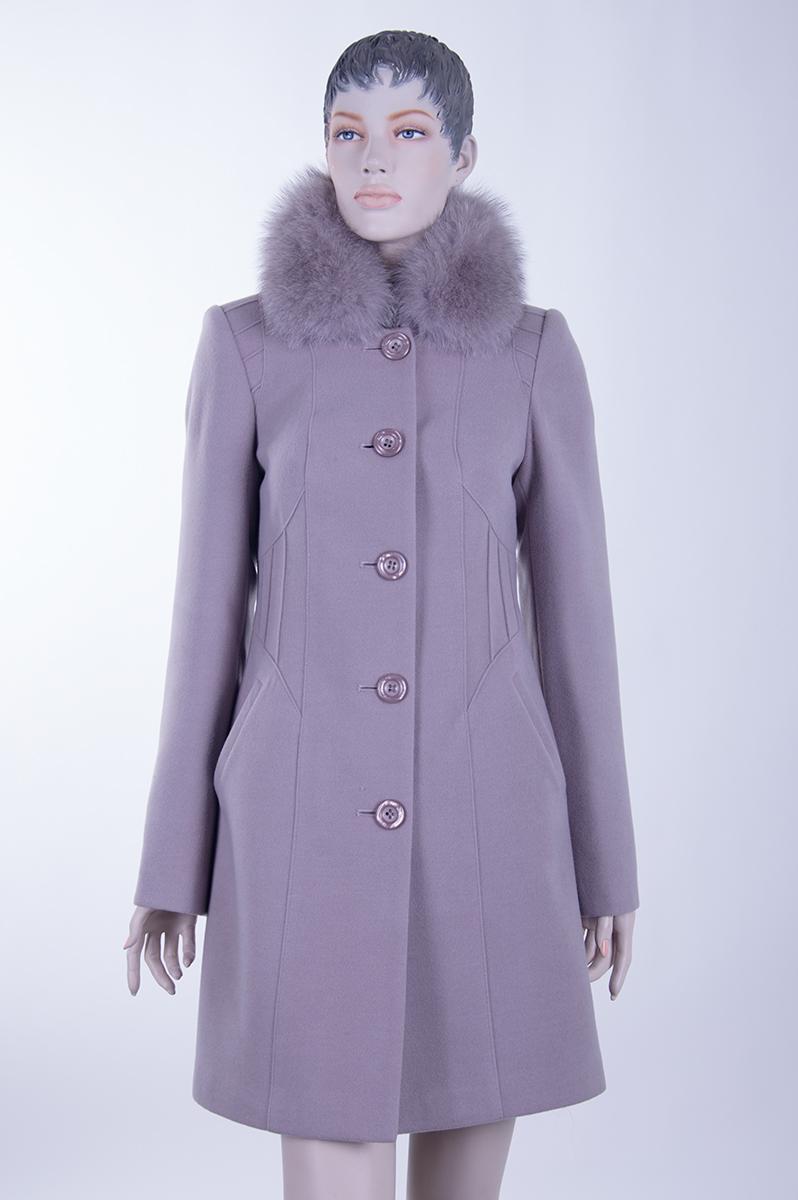 Красивое сиреневое пальто (Украина). Просмотр. Фото из альбома «Пальто оптом  от производителя ... 51ab486988518
