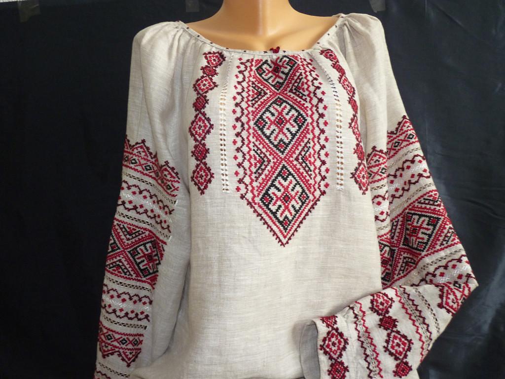 Українська сорочка-вишиванка жіноча - Фотогалерея - Вишиванки ручної ... 0c9cd50b31680