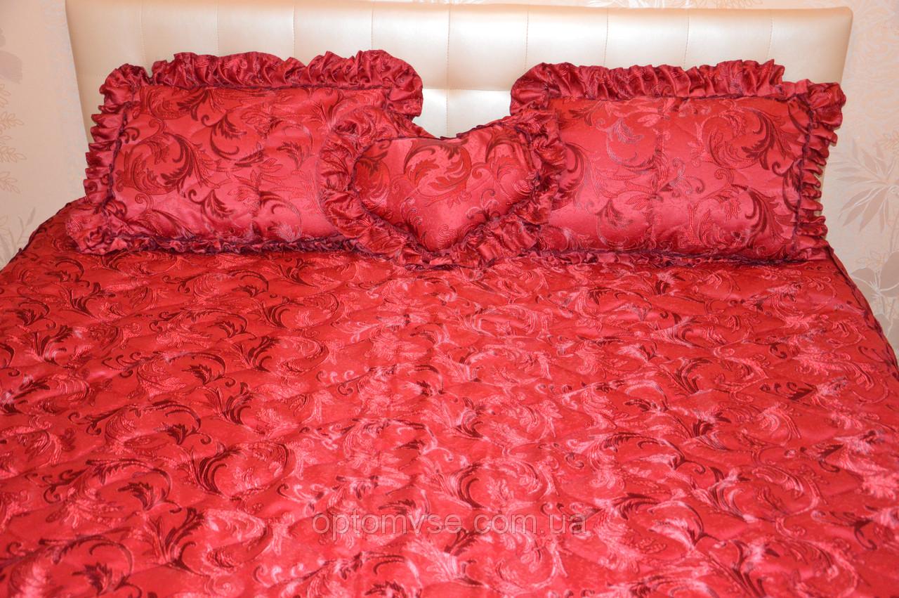 Красное покрывало на двуспальную кровать - Асортимент - Постільна ... ee4af5fa45332