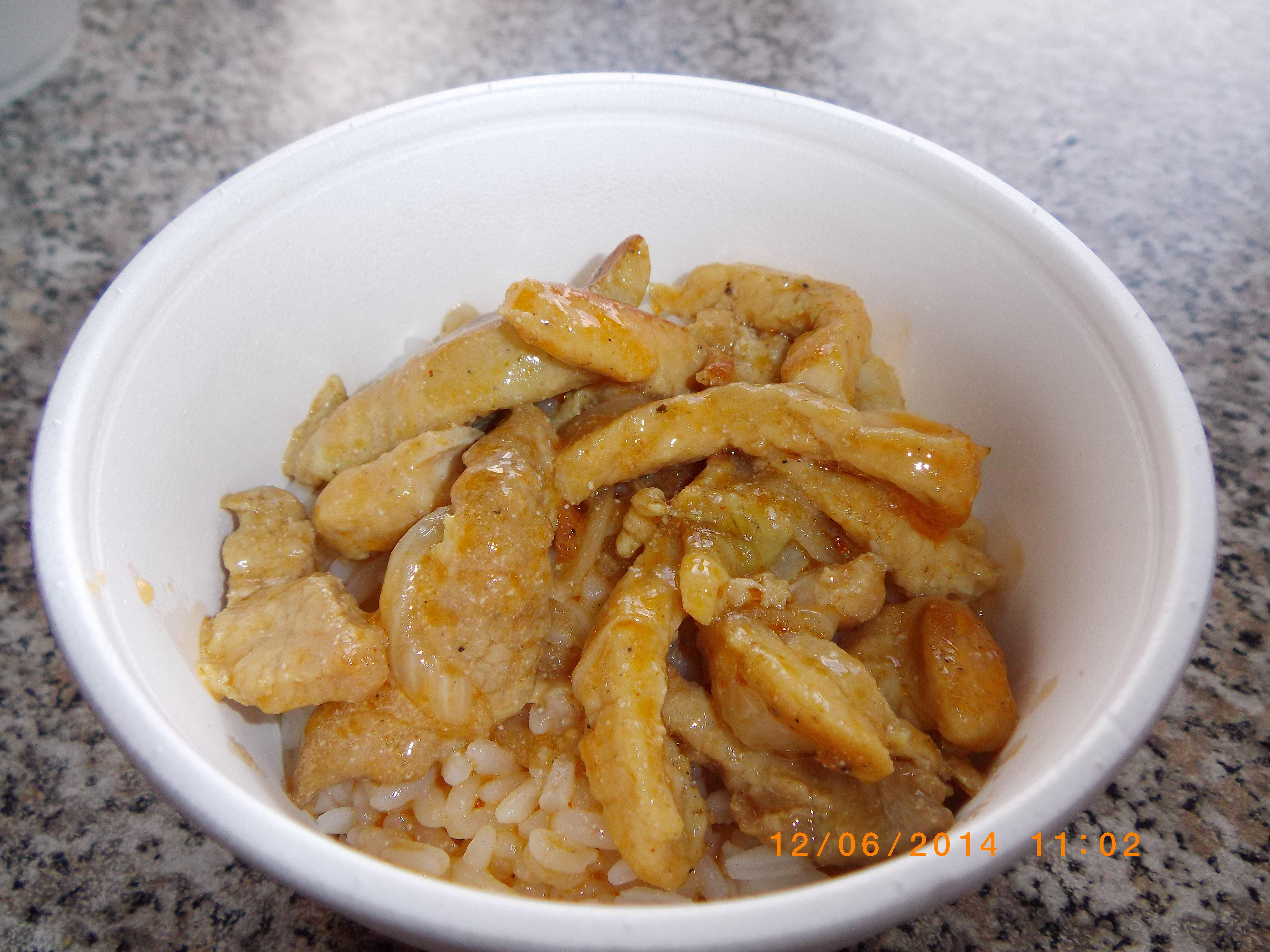 бефстроганов с рисом