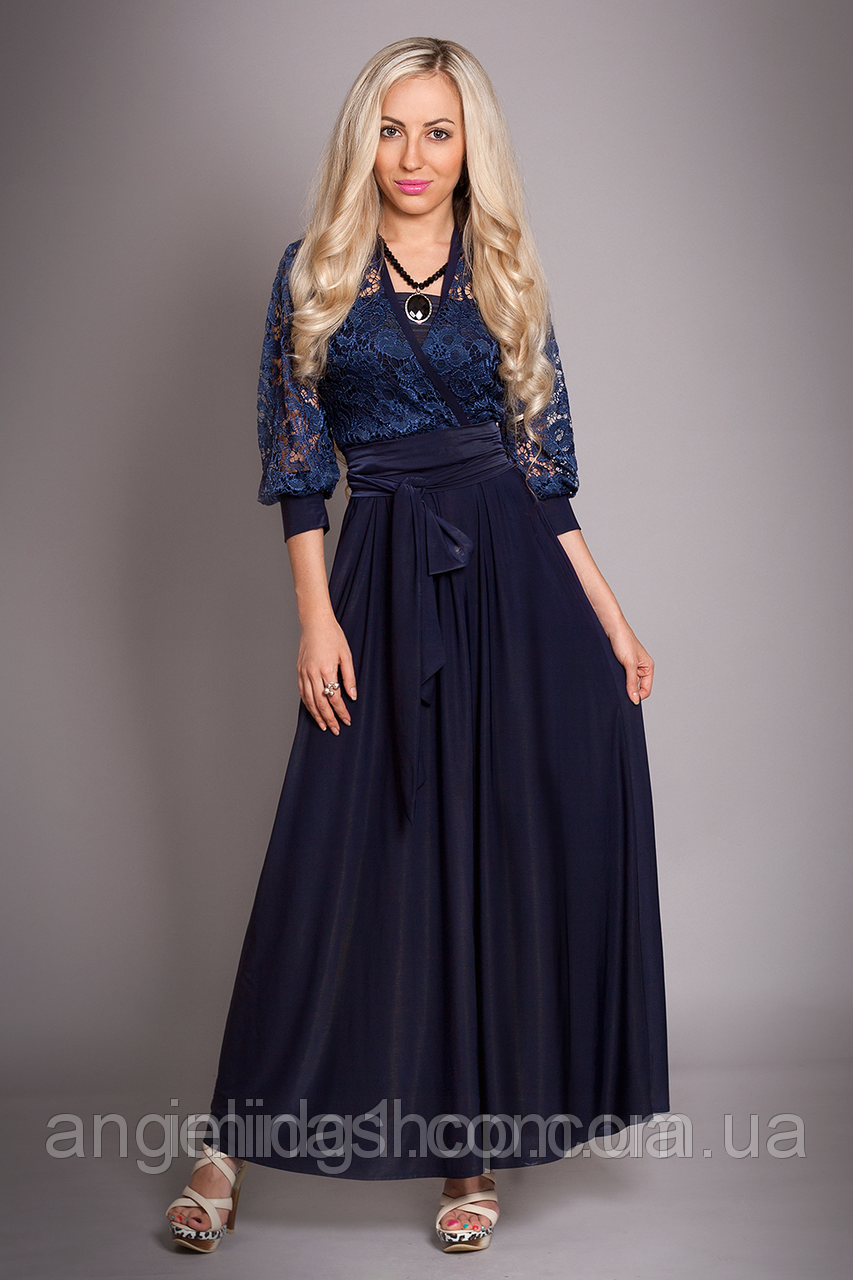 Вечерние платья с гипюром длинные для полных женщин