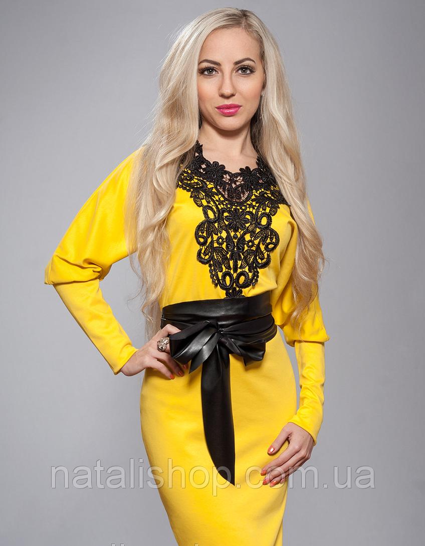Желтое платье с кружевом купить - Фотогалерея - Жіночий одяг ... ffa338c118004