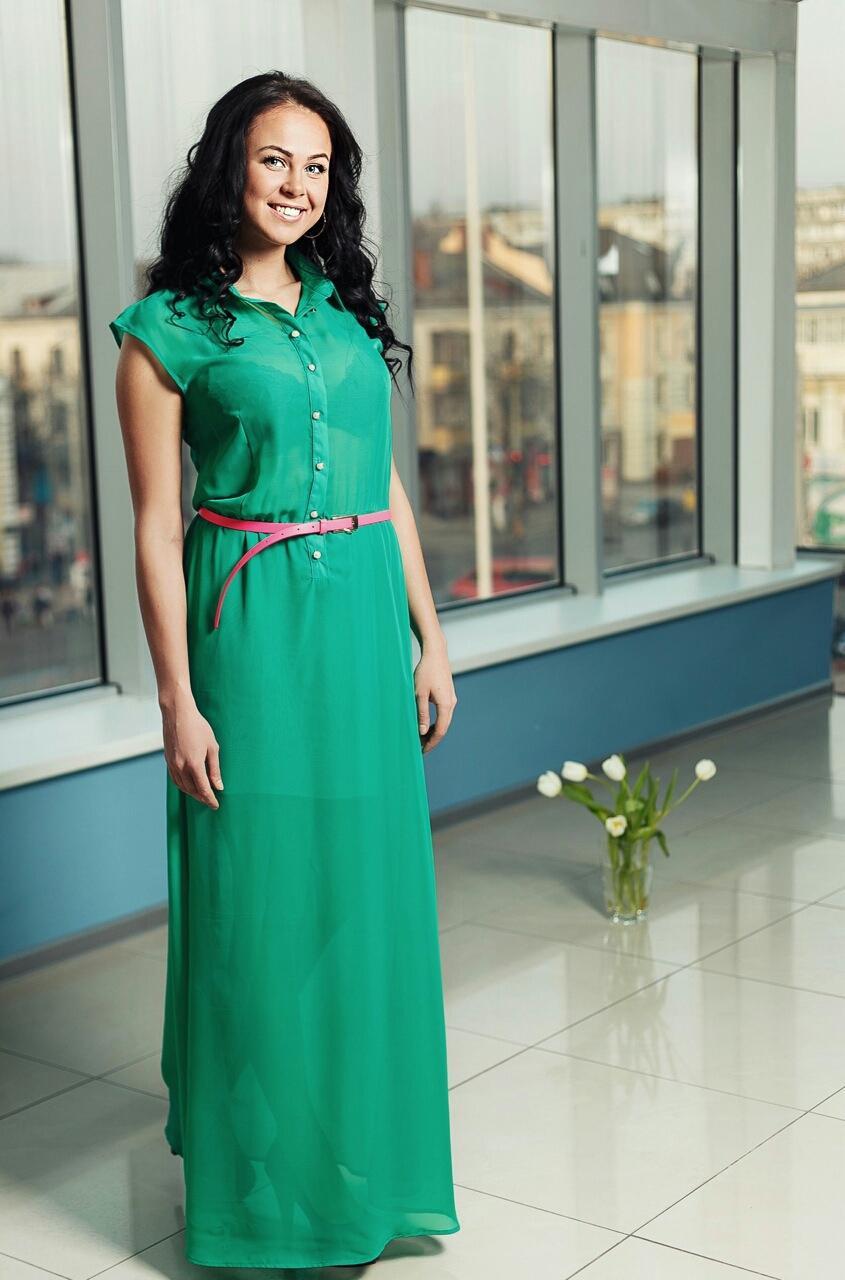 6b764a7cf7c4 Летнее длинное зеленое платье купить - Фотогалерея - Женская одежда ...