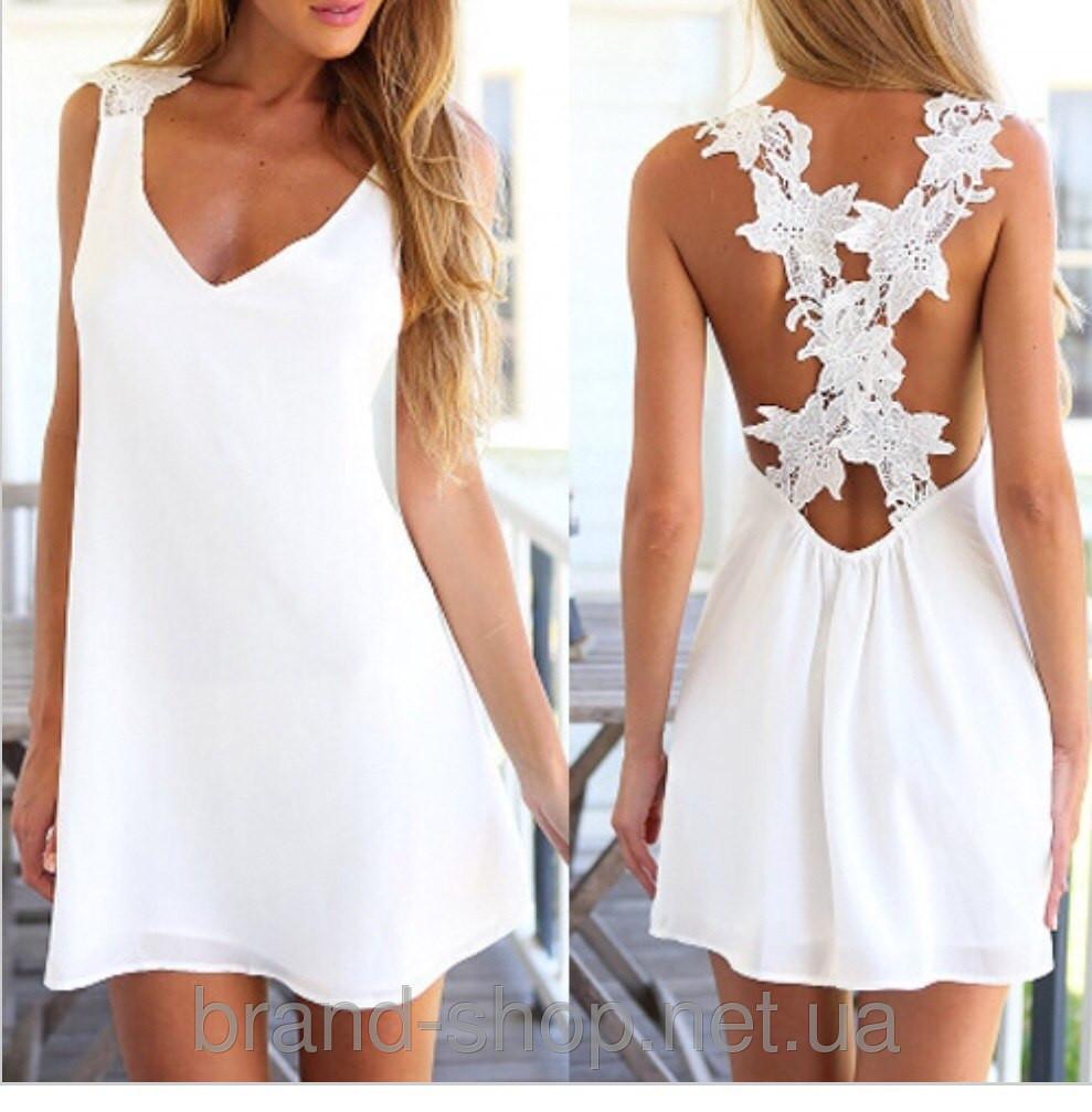Летнее платье с открытой спиной   Літнє плаття з відкритою спиною ... a698d7a6899b4