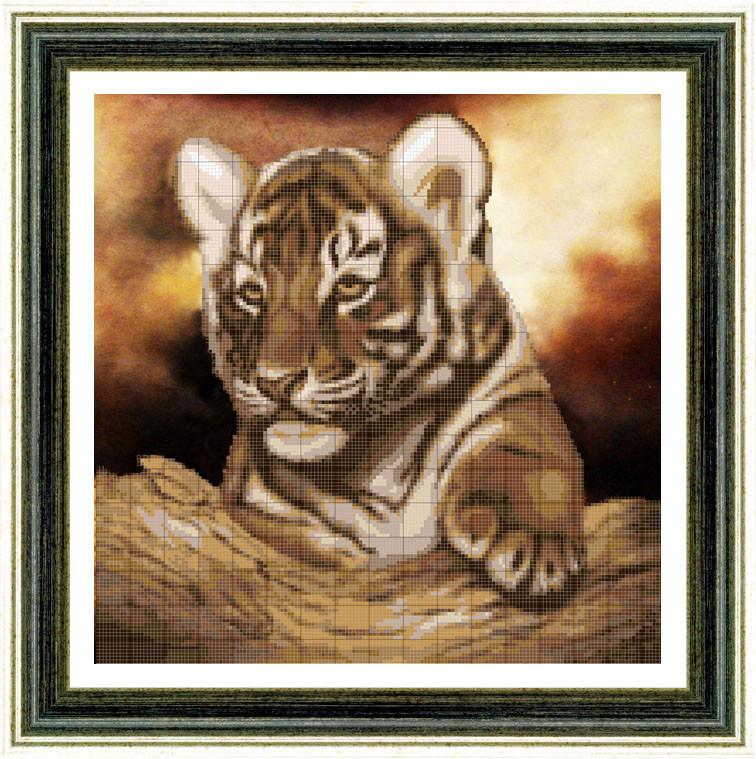 Вышивка бисером картины с животными