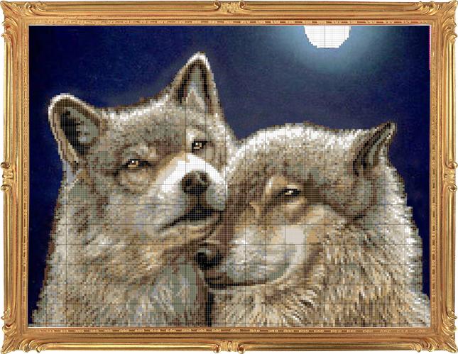 Волки под луной