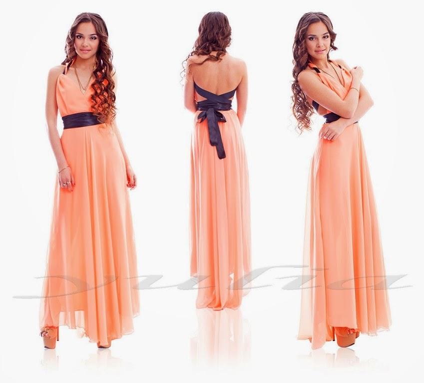 Красивые шифоновые платья в пол